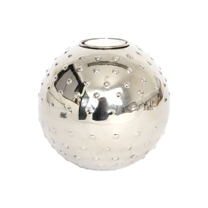 Culinary Concepts Large Silver Sphere Tea Light Holder