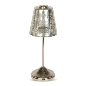 Culinary Concepts Small Tea Light Lamp with Silver Shade