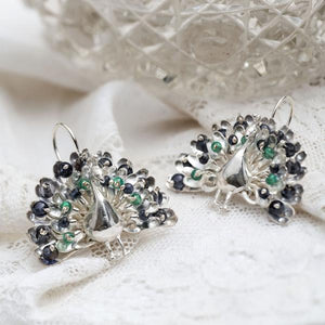 Amanda Coleman peacock earrings