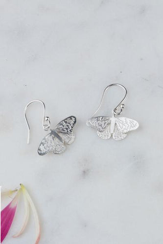 Amanda Coleman butterfly drop earrings