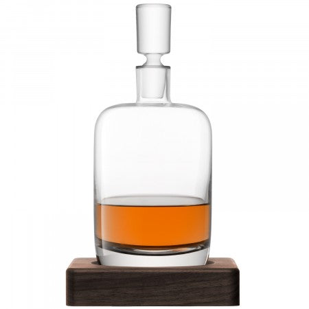LSA Whisky renfrew decanter & walnut base