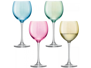 LSA Polka wine glass x 4 400ml