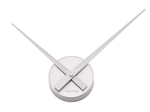 Karlsson Wall Clock Little Big Time Mini Silver