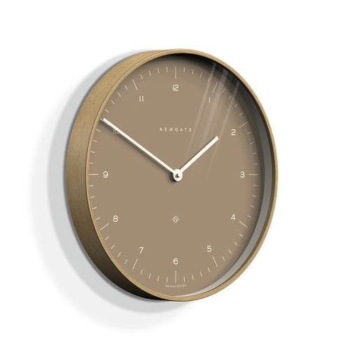 Newgate Mr Clarke wall clock burnt sienna