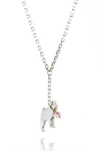 Amanda Coleman pug on a lead necklace