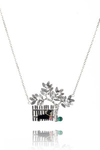 Amanda Coleman dog in the park necklace