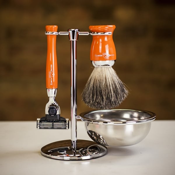 Edwin Jagger 4pc Orange Shaving Set