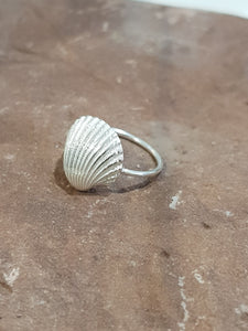 Agapi Smpokou Seastories - princess oyster ring silver, size 'N'