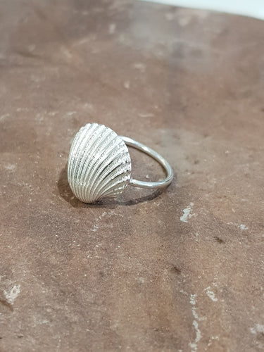Agapi Smpokou Seastories - princess oyster ring silver, size 'O'