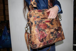 Tote Bag Floral Leather