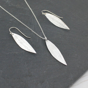 Lucy Kemp Silver Palm Leaf Pendant Necklace