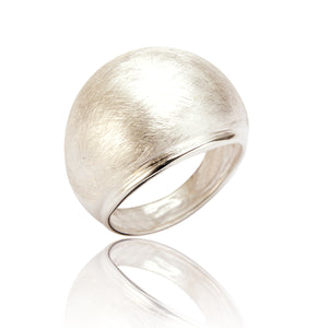 Skye Brushed Silver Statement Ring