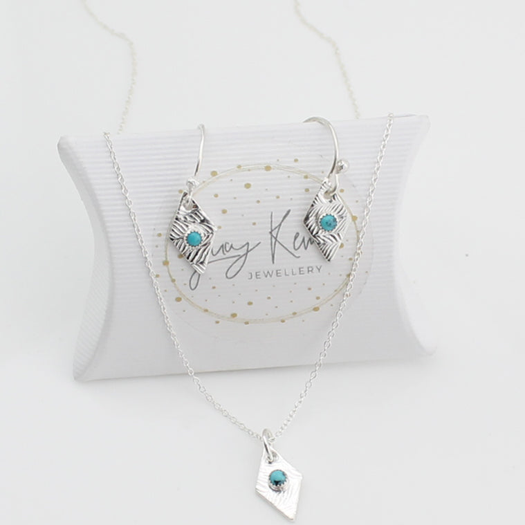 Lucy Kemp tribe diamond shaped necklace