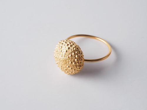 Agapi Smpokou Seastories - urchin ring, gold plate size `M`