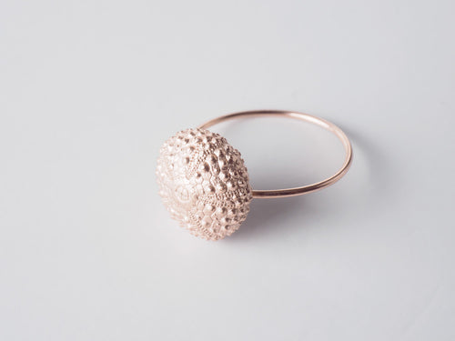 Agapi Smpokou Seastories - urchin ring rose gold plate size 'N'