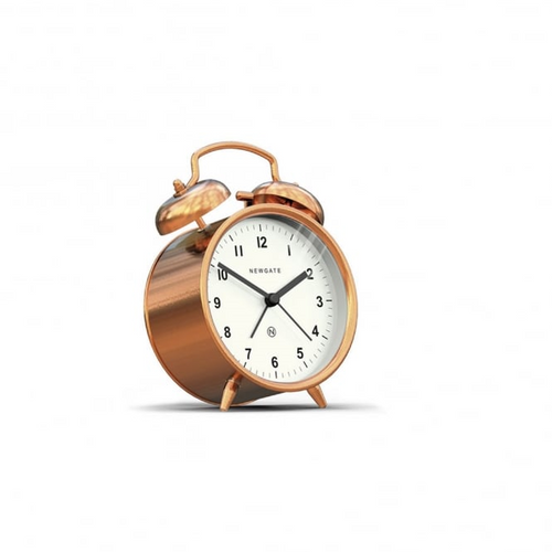 Newgate Charlie Bell Alarm Clock - Radial Copper