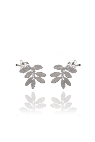 Amanda Coleman Leaf Stud Earrings
