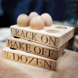 Culinary Concepts six egg holder - 'Crack On'