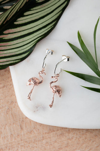 Amanda Coleman flamingo earrings