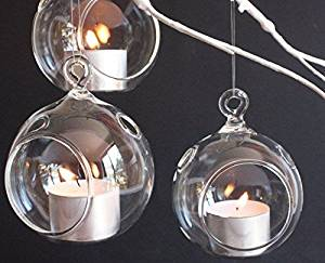 Culinary Concepts hanging glass tealight holder