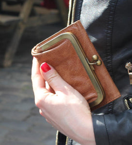 Clip Wallet Smooth Tan Leather