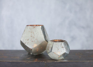 Nkuku Mirembe small silver tea lights