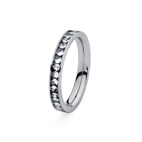Qudo 'Nueva Deluxe' Stainless Steel Spacer Ring