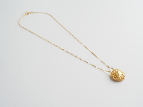 Agapi Smpokou Seastories - urchin short chain necklace, gold plate