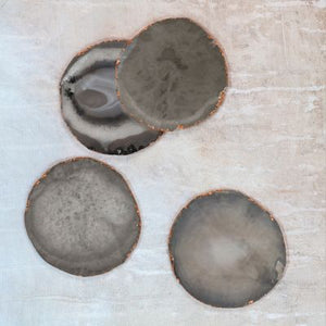 Dassie Yashvi grey agate coasters (set of 4)