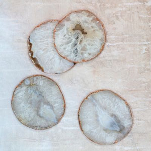 Dassie Yashvi white agate coasters (set of 4)