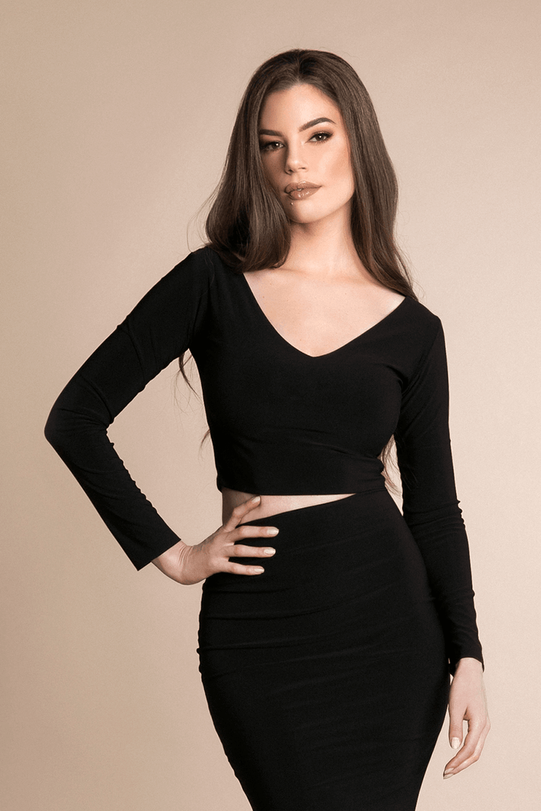 VAL CROP TOP - BLACK