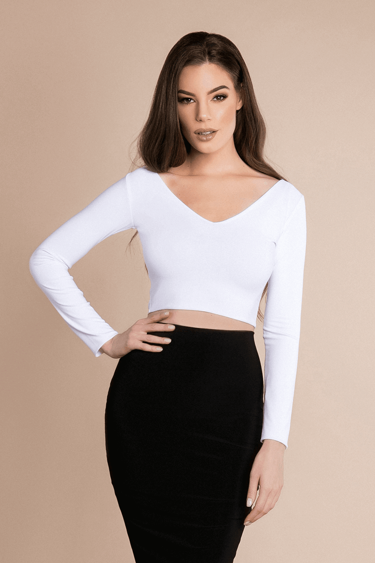 VAL CROP TOP - WHITE