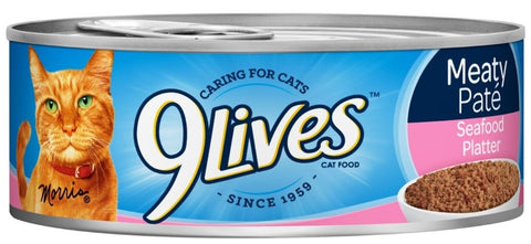 9 Lives Meaty Pate Seafood Platter Canned Cat Food