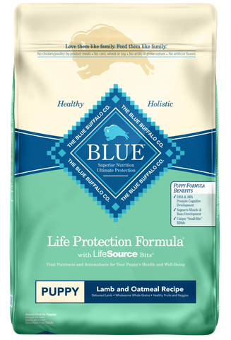 Blue Buffalo Life Protection Puppy Lamb and Oatmeal Recipe Dry Dog Food