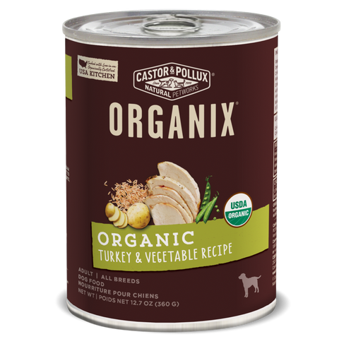 Castor and Pollux Organix Turkey and Vegetable Canned Dog Food