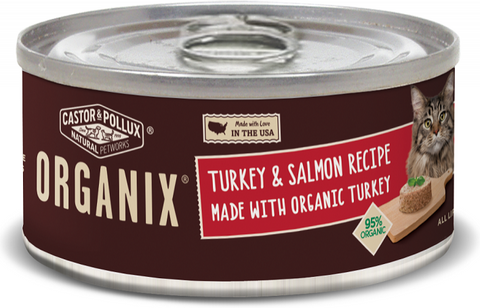 Castor and Pollux Organix Turkey And Salmon Formula Canned Cat Food