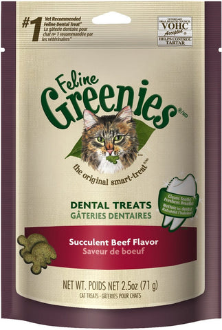 Greenies Feline Dental Beef Flavor Cat Treats