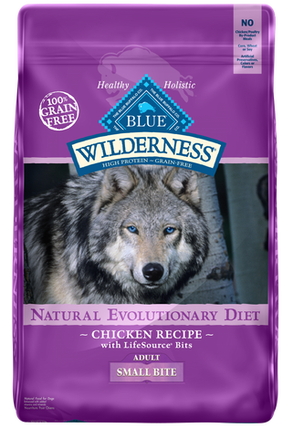 Blue Buffalo Wilderness Adult Small Bite Chicken Recipe Dry Dog Food