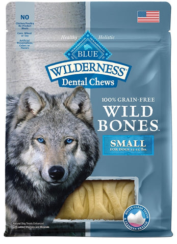 Blue Buffalo Wilderness Wild Bones Dental Chews Small Size for Dogs