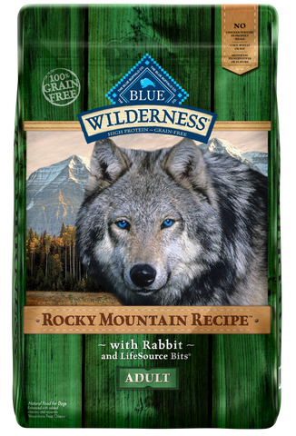 Blue Buffalo Wilderness Rocky Mountain Grain Free Recipes Adult Rabbit Dry Dog Food