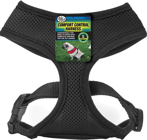 Four Paws Black Comfort Control Dog Harness