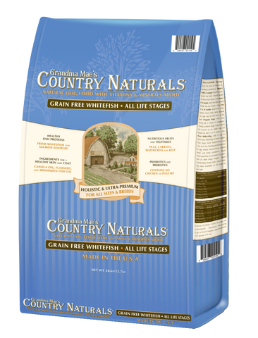 Grandma Mae's Country Naturals Grain Free Whitefish Recipe Dry Dog Food