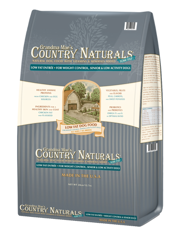 Grandma Mae's Country Naturals Senior/Low-Fat Formula Dry Dog Food