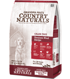 Grandma Mae's Country Naturals Grain Free Single Protein Venison Meal Recipe Dry Dog Food
