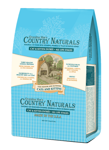 Grandma Mae's Country Naturals Chicken & Brown Rice Recipe for Cats & Kittens