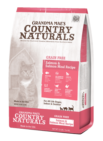 Grandma Mae's Country Naturals Grain Free Salmon Meal Recipe for Cats & Kittens