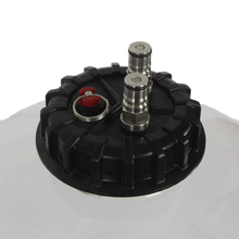 Druckdeckel mit Safety Release Standard-Ball-Lock CO₂ In Connection Standard Ball-Lock Beer Out Connection