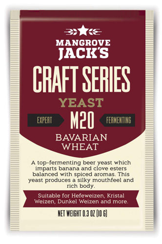 Trocken Bierhefe Bavarian Wheat M20, Mangrove Jack's Craft Series, 10 gram