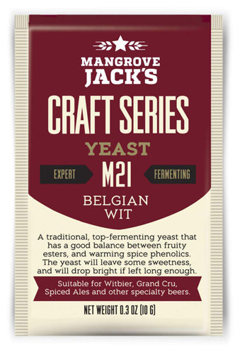 Trocken Bierhefe Belgian Wit M21, Mangrove Jack's Craft Series , 10 gram