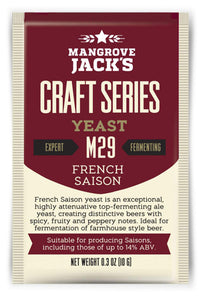 Trocken Bierhefe French Saison M29, Mangrove Jack's Craft Series, 10 gram